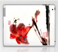 laptop notebook ibook case sumi-e ink