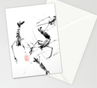 stationery cards sumi-e ink